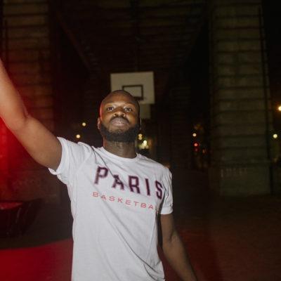 t-shirt blanc adidas x parisbasketball