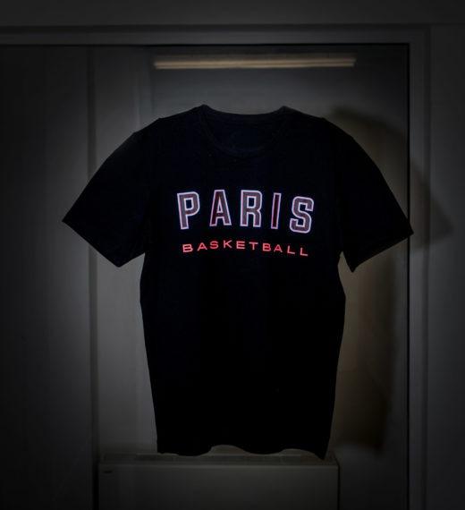 t-shirt noir adidas x parisbasketball