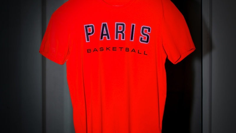 T-shirt rouge adidas x parisbasketball