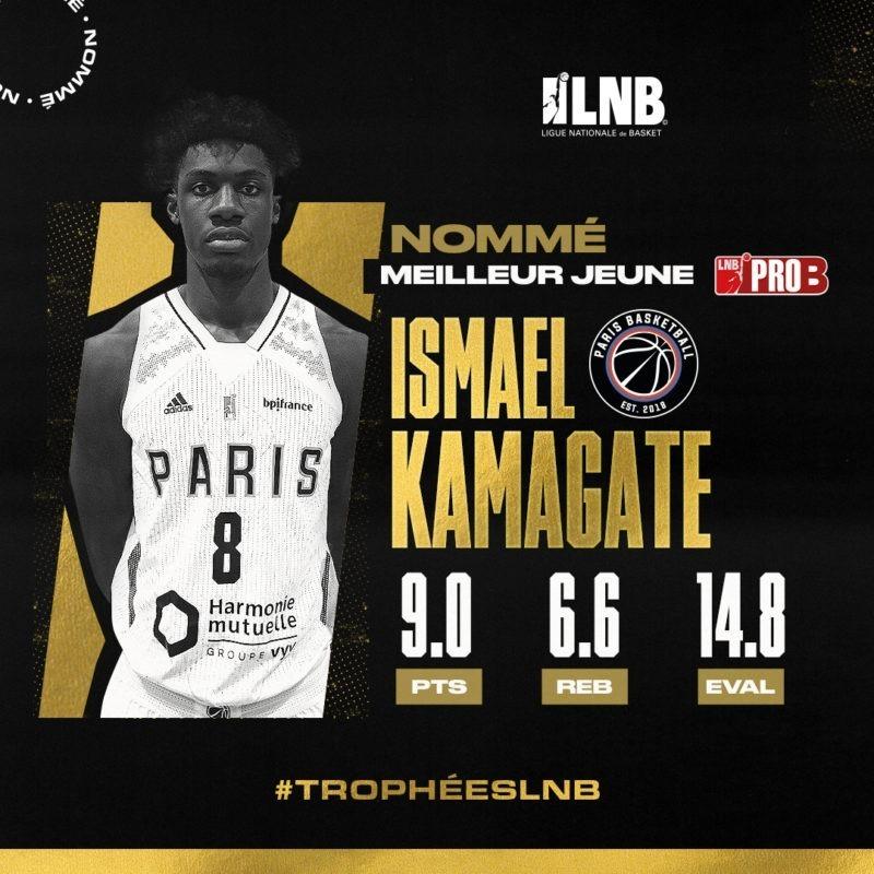 Ismael Kamagate nommé meilleur jeune aux trophées LNB