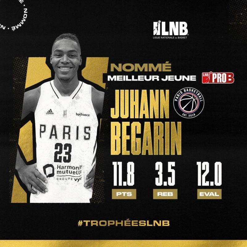 Juhann Begarin nommé meilleur jeune aux trophées LNB
